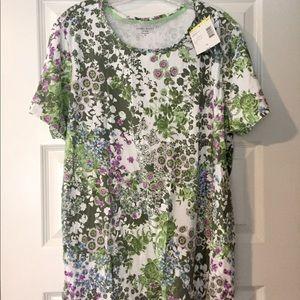 Laura Scott  Floral T Shirt